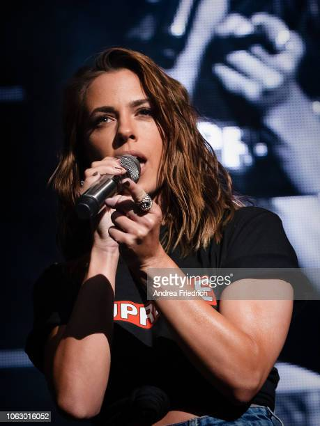 Vanessa Mai performs live on stage during 'Die Schlagernacht des Jahres' at the MercedesBenz Arena Berlin on November 17 2018 in Berlin Germany
