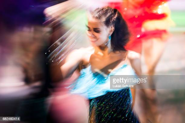 Vanessa Mai performs on stage during the 8th show of the tenth season of the television competition 'Let's Dance' on May 12 2017 in Cologne Germany