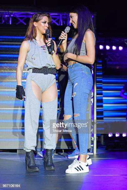 Vanessa Mai performs with the young influencer and singer Ana Lisa Kohler live on stage during her concert on May 10 2018 in Berlin Germany Vanessa...