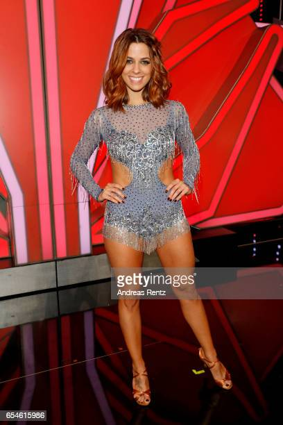 Vanessa Mai pose after the 1st show of the tenth season of the television competition 'Let's Dance' on March 17 2017 in Cologne Germany
