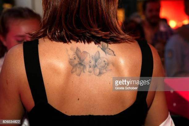 Vanessa Mai tattoo during the late night shopping at Designer Outlet Soltau on August 4 2017 in Soltau Germany