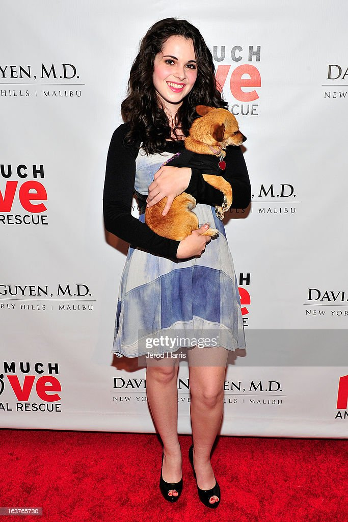 Vanessa Marano arrives at Dr. Davis B. Nguyen and Much Love Animal Rescue host ÒMakeover for MuttsÓ at The Peninsula Hotel at Peninsula Hotel on March 14, 2013 in Beverly Hills, California.