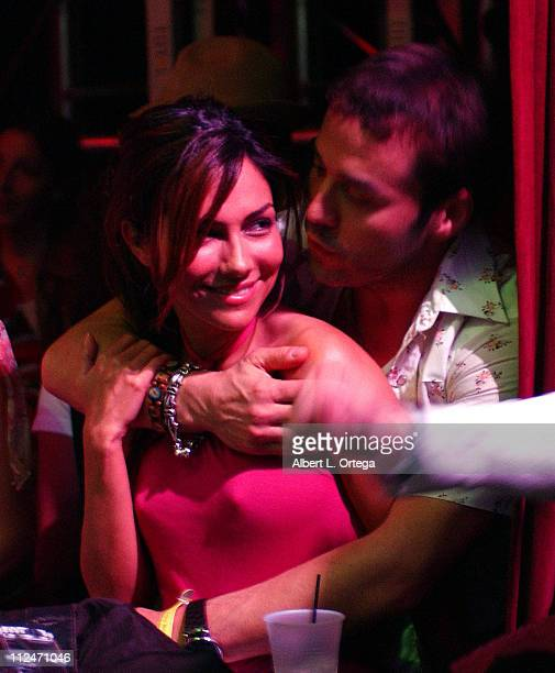 Vanessa Marcil and Jeremy Piven during Heineken PreGRAMMY Party with Live Performance by Wyclef Jean Show at The Henry Fonda Theater in Hollywood CA...