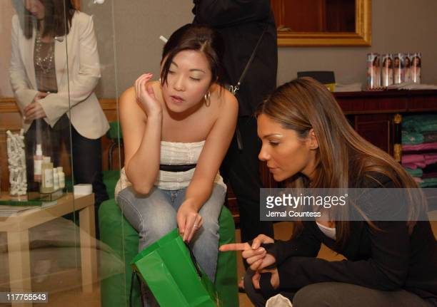 Vanessa Marcil at the Mario Badescu gift station during Lucky/Cargo Club Day 1 at Ritz Carlton in New York City New York United States