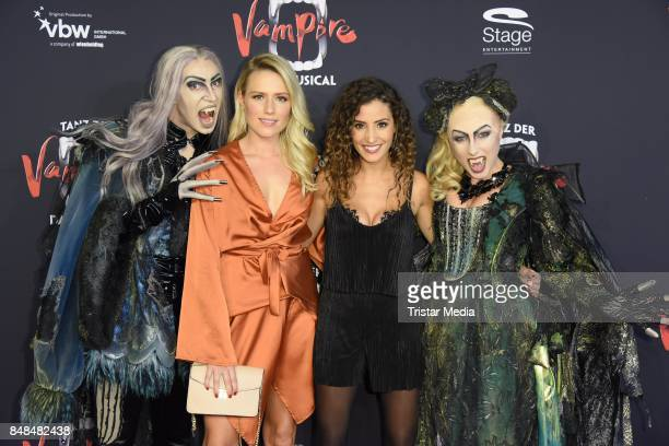 Vanessa Meisinger and Nadine Menz attend the 'Tanz der Vampire' Musical Premiere at Stage Theater on September 17 2017 in Hamburg Germany