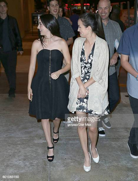 Vanessa Merrell and Veronica Merrell are seen outside the premiere of Standoff on September 8 2016 in Los Angeles CA