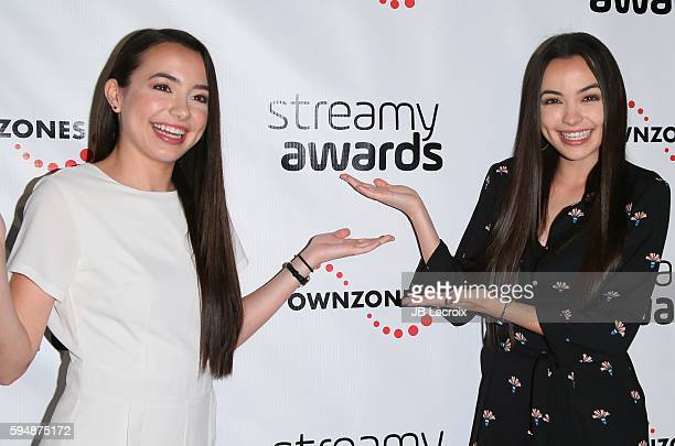 Vanessa Merrell and Veronica Merrell attend the 6th Annual Streamy Awards nominations event on August 24 2016 in Santa Monica California