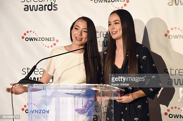 Vanessa Merrell and Veronica Merrell attend The 6th Annual Streamy Awards nominations event hosted by GloZell Green at 41 Ocean Club on August 24...