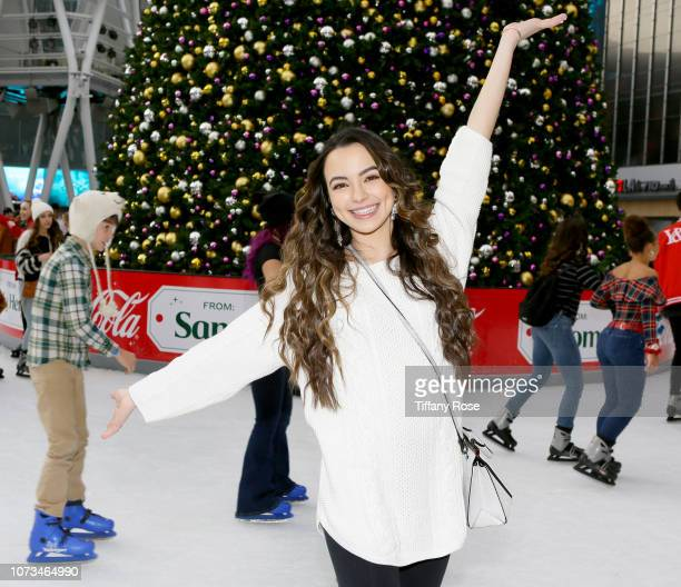 Vanessa Merrell attends Instagram's #Instaskate 2018 at LA Kings Holiday Ice LA Live on November 27 2018 in Los Angeles California