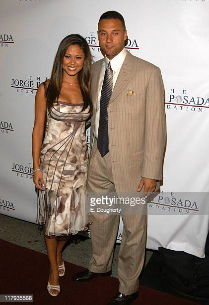Vanessa Minnillo and Derek Jeter during 4th Annual Jorge Posada Foundation Gala Benefiting Craniosynostosis at Cipriani in New York City New York...