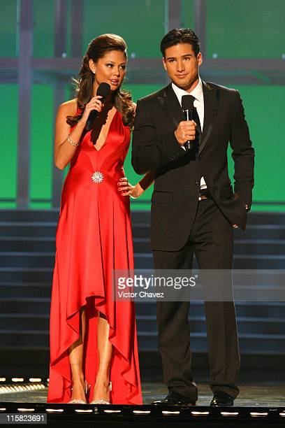 Vanessa Minnillo and Mario Lopez hosts during Miss Universe 2007 Show at Auditorio Nacional in Mexico City Mexico City Mexico