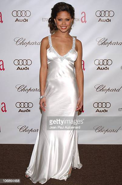 Vanessa Minnillo during 14th Annual Elton John AIDS Foundation Oscar Party Cohosted by Audi Chopard and VH1 Arrivals at Pacific Design Center in...