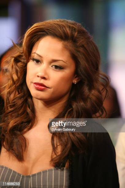 Vanessa Minnillo during Fergie Ashley Tisdale Lloyd Lil Wayne and Timbaland Visit MTV's TRL February 7 2007 at MTV Studios at 1515 Broadway in New...