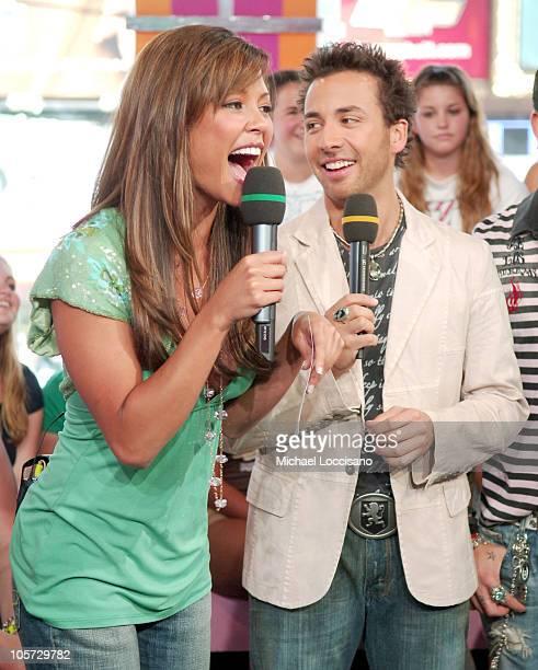 Vanessa Minnillo with Howie Dorough of Backstreet Boys