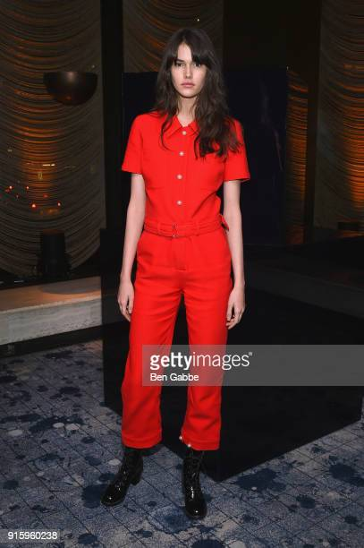 Vanessa Moody attends the Stuart Weitzman FW18 Presentation and Cocktail Party at The Pool on February 8, 2018 in New York City.