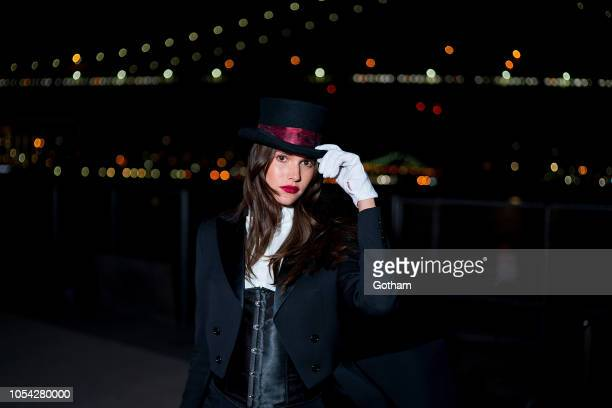 Vanessa Moody attends the V Magazine Halloween Party presented by Chanel at Jane's Carousel on October 26 2018 in Brooklyn New York