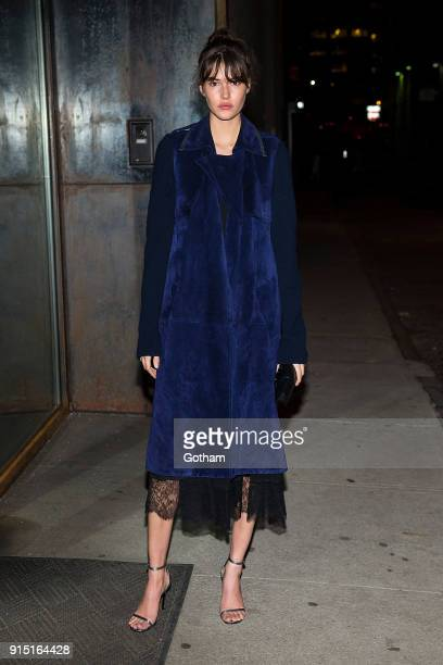 Vanessa Moody is seen in Tribeca on February 6 2018 in New York City