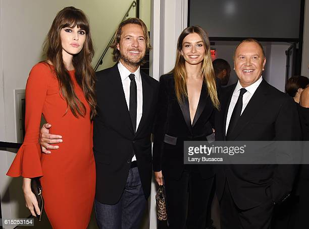 Vanessa Moody, Lance LePere, Andreea Diaconu, and Michael Kors attend the God's Love We Deliver Golden Heart Awards on October 17, 2016 in New York...