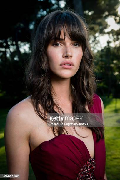 Vanessa Moody poses for portraits at the amfAR Gala Cannes 2018 cocktail at Hotel du CapEdenRoc on May 17 2018 in Cap d'Antibes France