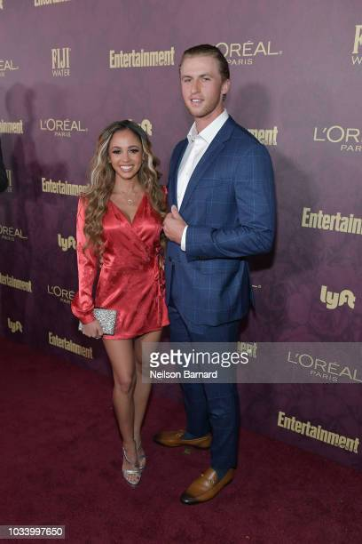 Vanessa Morgan and Michael Kopech attend the 2018 PreEmmy Party hosted by Entertainment Weekly and L'Oreal Paris at Sunset Tower on September 15 2018...
