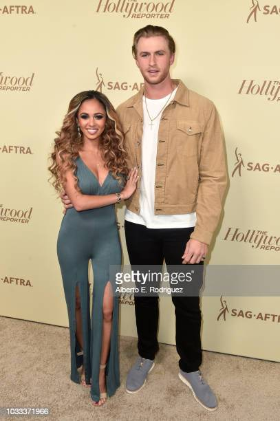 Vanessa Morgan and Michael Kopech attend The Hollywood Reporter and SAGAFTRA Annual Nominees Night to celebrate Emmy Award contenders at Avra Beverly...
