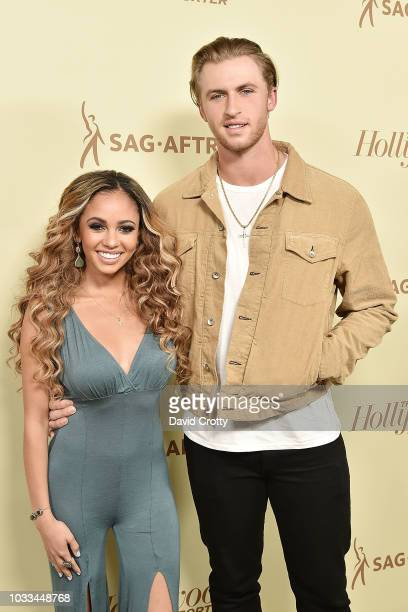 Vanessa Morgan and Michael Kopech attend The Hollywood Reporter And SAGAFTRA Celebrate Emmy Award Contenders At Annual Nominees Night at Avra Beverly...