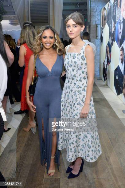 Vanessa Morgan and Natalia Dyer attend The Hollywood Reporter SAGAFTRA 2nd annual Emmy Nominees Night presented by Douglas Elliman and Heineken at...