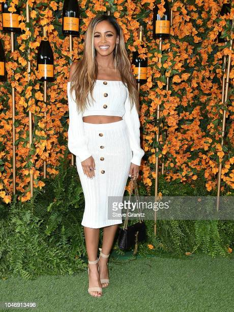 Vanessa Morgan arrives at the 9th Annual Veuve Clicquot Polo Classic Los Angeles at Will Rogers State Historic Park on October 6 2018 in Pacific...