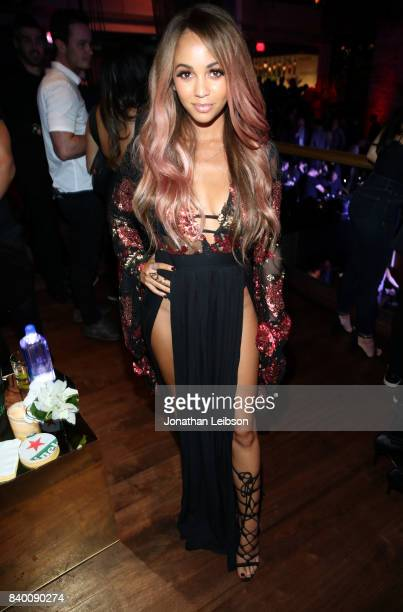 Vanessa Morgan at Republic Records VMA Party presented in partnership with FIJI Water at TAO at the Dream Hotel on August 27 2017 in Los Angeles...