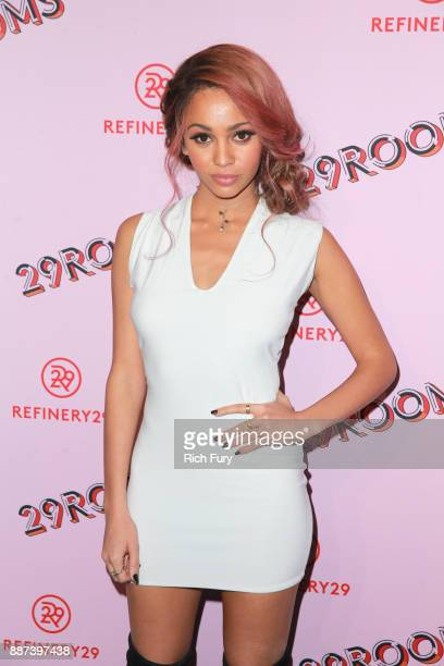 Vanessa Morgan attends Refinery29 29Rooms Los Angeles Turn It Into Art Opening Night Party at ROW DTLA on December 6 2017 in Los Angeles California