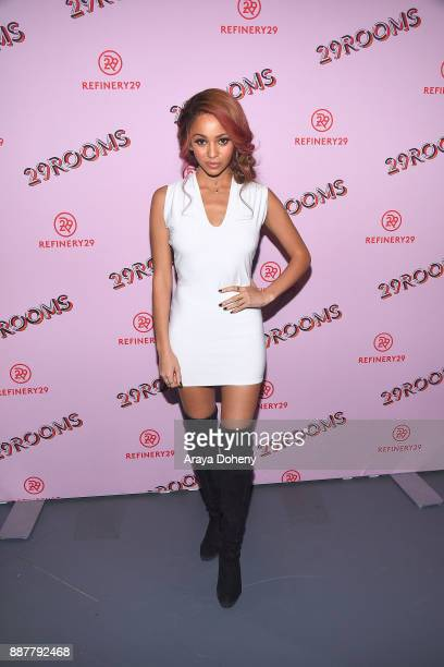 Vanessa Morgan attends Refinery29 29Rooms Los Angeles Turn It Into Art at ROW DTLA on December 6 2017 in Los Angeles California