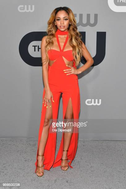 Vanessa Morgan attends the 2018 CW Network Upfront at The London Hotel on May 17 2018 in New York City