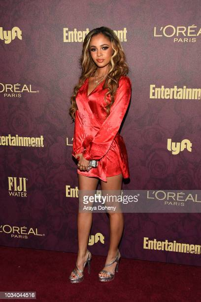 Vanessa Morgan attends the 2018 PreEmmy Party hosted by Entertainment Weekly and L'Oreal Paris at Sunset Tower Hotel on September 15 2018 in West...