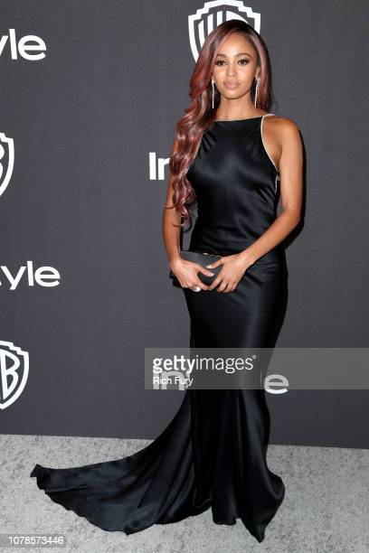 Vanessa Morgan attends the InStyle And Warner Bros Golden Globes After Party 2019 at The Beverly Hilton Hotel on January 6 2019 in Beverly Hills...