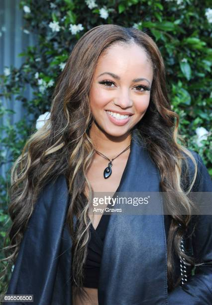 Vanessa Morgan attends the Popular X Wildfox Cover Launch Event For Madelaine Petsch in Los Angeles on June 12 2017 in Los Angeles California