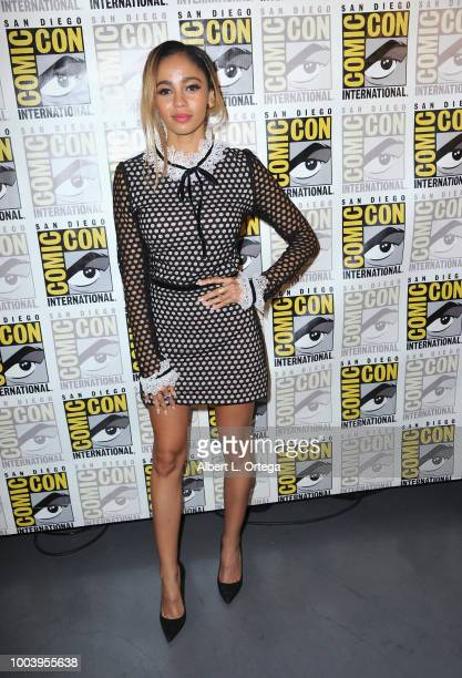 Vanessa Morgan attends the Riverdale special video presentation and QA during ComicCon International 2018 at San Diego Convention Center on July 22...