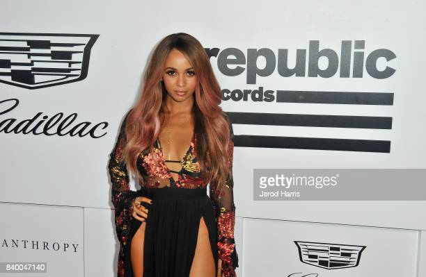 Vanessa Morgan attends the VMA after party hosted by Republic Records and Cadillac at TAO restaurant at the Dream Hotel on August 27 2017 in Los...