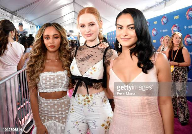 Vanessa Morgan Madelaine Petsch and Camila Mendes attend FOX's Teen Choice Awards at The Forum on August 12 2018 in Inglewood California