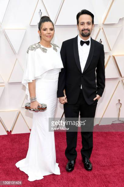 Vanessa Nada and LinManuel Miranda attend the 92nd Annual Academy Awards at Hollywood and Highland on February 09 2020 in Hollywood California