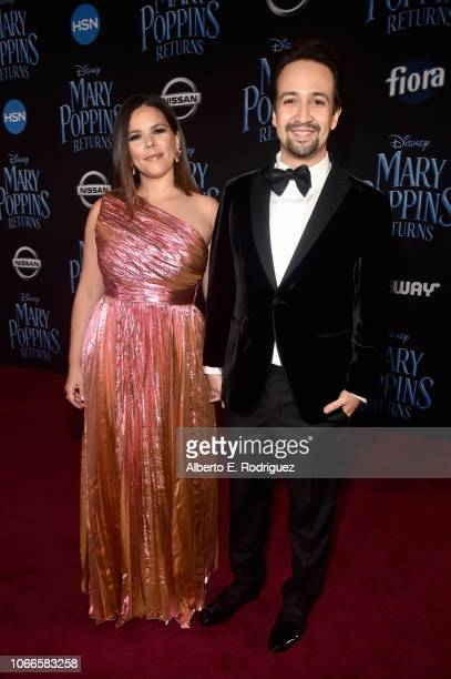 Vanessa Nadal and Actor LinManuel Miranda attend Disney's 'Mary Poppins Returns' World Premiere at the Dolby Theatre on November 29 2018 in Hollywood...