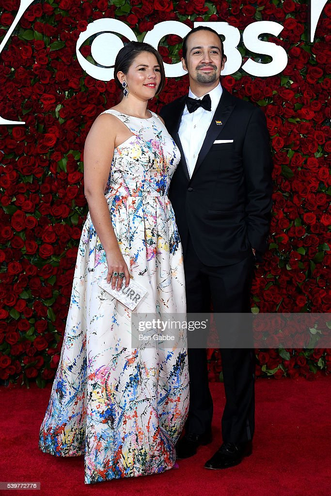 Vanessa Nadal (L) and Lin-Manuel Miranda attend the 70th Annual Tony Awards at The Beacon Theatre on June 12, 2016 in New York City.