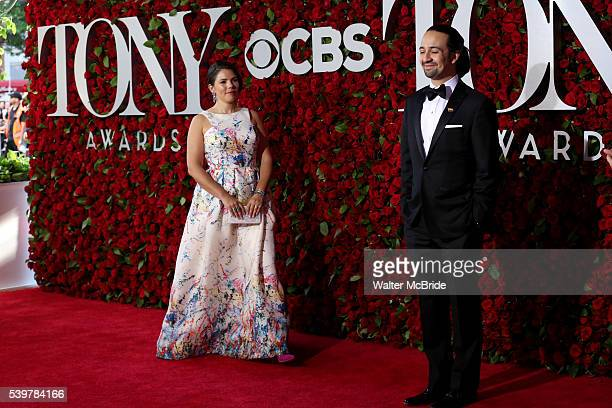 Vanessa Nadal and LinManuel Miranda attend the 70th Annual Tony Awards at the Beacon Theater on June 12 2016 in New York City