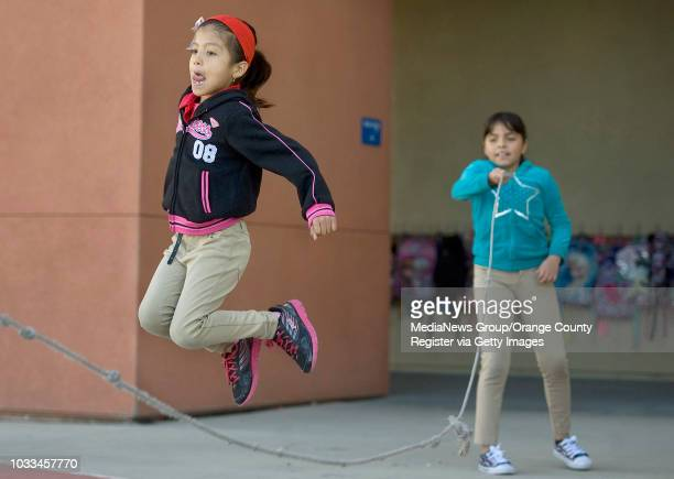 Vanessa Osorio gets a heartracing workout as she jumps rope with friends in her thirdgrade class at Garfield Elementary in Santa Ana Susanna Tellez...