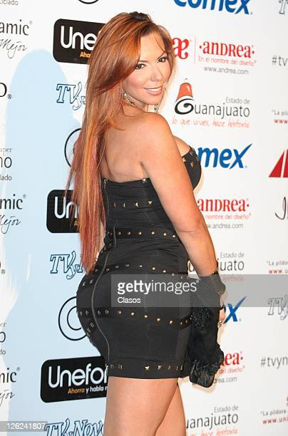 Vanessa Oyarzun during the red carpet of the internet portal Tvynovelascom on September 21 2011 in Mexico City Mexico
