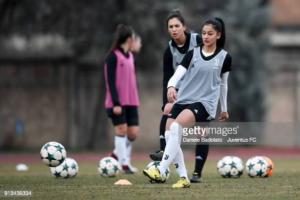 Vanessa Panzeri during a Juventus Women training session on February 2 2018 in Turin Italy