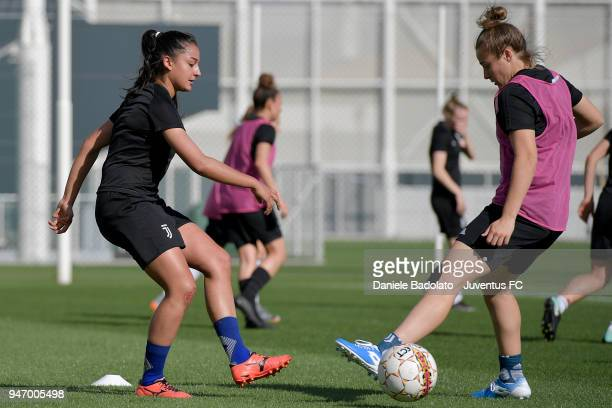 Vanessa Panzeri during the Juventus Women first training session at Jtc in Continassa on April 16 2018 in Turin Italy