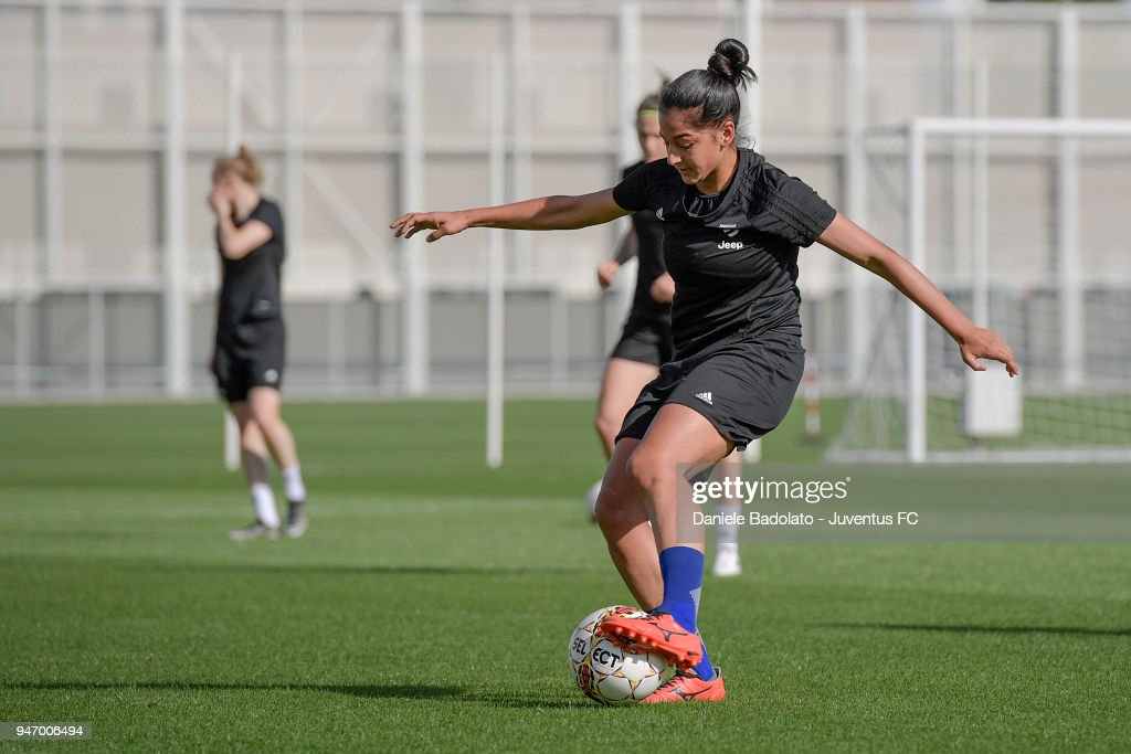 Vanessa Panzeri during the Juventus Women first training session at Jtc in Continassa on April 16, 2018 in Turin, Italy.
