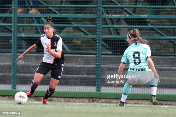 Vanessa Panzeri of Juventus Women U19 in action during the Viareggio Women's Cup match between Juventus U19 and FC Internazionale U19 on February 13...