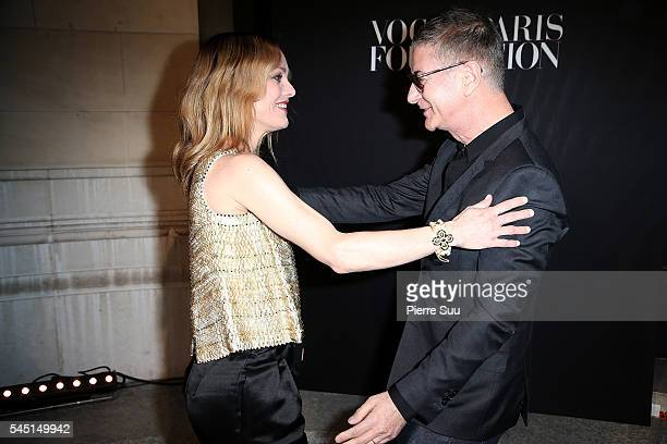 Vanessa Paradis and Etienne Daho attend the Vogue Foundation Gala 2016 at Palais Galliera on July 5 2016 in Paris France