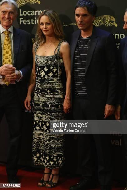 Vanessa Paradis and Samuel Benchetrit attend 'Chien' premiere during the 70th Locarno Film Festival on August 7 2017 in Locarno Switzerland